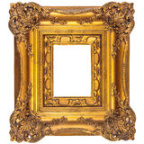 Medieval picture frame isolated on white Stock Photography