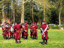 Medieval pikemen Stock Photo