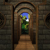 Medieval Place Royalty Free Stock Images