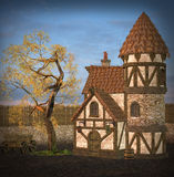 Medieval place Stock Photography