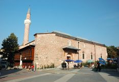 Medieval Plovdiv with Djumaya mosque,Bulgaria Stock Photos