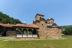 Medieval Poganovo Monastery of St. John the Theologian, Serbia. Amazing view of medieval Poganovo Monastery of St. John the Theologian, Serbia Stock Photos