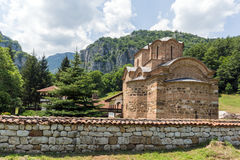 Medieval Poganovo Monastery of St. John the Theologian, Serbia. Amazing view of medieval Poganovo Monastery of St. John the Theologian, Serbia Stock Photography