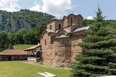 Medieval Poganovo Monastery of St. John the Theologian, Serbia. Amazing view of medieval Poganovo Monastery of St. John the Theologian, Serbia Royalty Free Stock Image