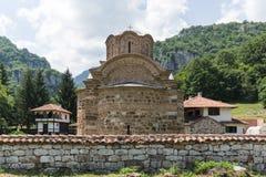Medieval Poganovo Monastery of St. John the Theologian, Serbia. Amazing view of medieval Poganovo Monastery of St. John the Theologian, Serbia Royalty Free Stock Photography