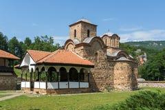 Medieval Poganovo Monastery of St. John the Theologian, Serbia. Amazing view of medieval Poganovo Monastery of St. John the Theologian, Serbia Royalty Free Stock Images