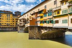 Golden bridge in Florence Royalty Free Stock Image