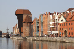The medieval port crane in Gdansk, Poland Stock Photography