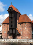 Medieval port crane in Gdansk, Poland Royalty Free Stock Photo