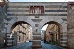Medieval Porta Nuova, Milan - Italy Royalty Free Stock Photography