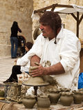 Medieval Pottery Maker Stock Photography