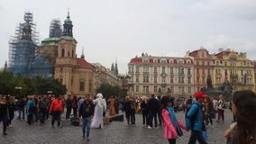 Medieval Prague. Dowtown europe enlightenment life Stock Photo