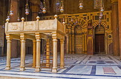 The medieval prayer hall Royalty Free Stock Photos