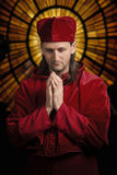 Medieval priest Royalty Free Stock Photo