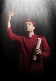 Medieval priest Royalty Free Stock Photos