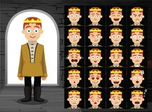 Medieval Prince Cartoon Emotion Faces Vector Illustration Royalty Free Stock Photo