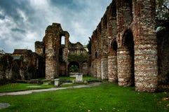 Medieval priory ruins Stock Image