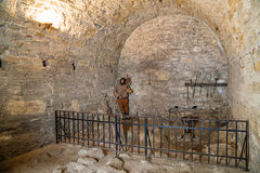 Medieval prison in Baba Vida fortress Stock Images