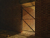 Medieval prison cell Stock Images