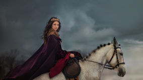 Medieval Queen portrait Stock Photos
