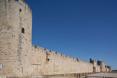 Medieval rampart of Aigues mortes. Royalty Free Stock Images