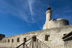 Medieval ramparts, Aigues Mortes Stock Photo