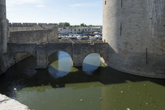 Medieval ramparts, Aigues Mortes Royalty Free Stock Photo