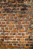 Medieval red brick  wall background Stock Photography