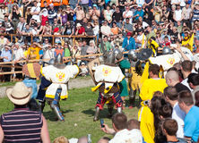 Medieval reenactment festival Battle of the Nation Royalty Free Stock Images
