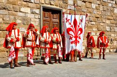 Medieval reenactment in Italy Royalty Free Stock Photos