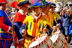 Medieval reenactment in Italy Royalty Free Stock Photo