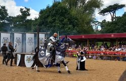 Medieval Reenactment at Warwick Castle, England Royalty Free Stock Photos