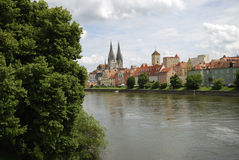 Medieval Regensburg Royalty Free Stock Photography