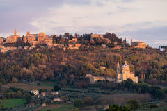 Medieval and Renaissance town Montepulciano, Tuscany Stock Image