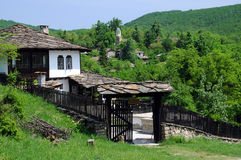 Medieval Renovated House in Bozhentsi royalty free stock image