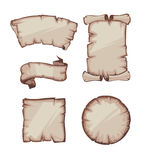 Medieval retro Yellowish Blank Scrolls Royalty Free Stock Photos