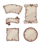 Medieval retro Yellowish Blank Scrolls Royalty Free Stock Photos