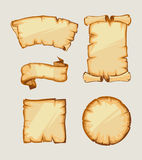 Medieval retro Yellowish Blank Scrolls Royalty Free Stock Images