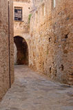 Medieval road, Italy Royalty Free Stock Image