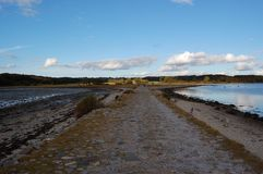 Medieval road to Kalø Royalty Free Stock Images
