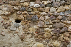 Medieval rock wall. In ancient fortress Royalty Free Stock Photography