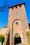 Medieval Roman city wall with towers in Worms, Germany. Picture of the medieval Roman city wall with towers in Worms, Germany royalty free stock photos