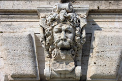 Medieval roman stone sculpture on the wall  Royalty Free Stock Photos