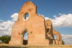 Ruins of old monastery Arača near Novi Bečej. Medieval Romanesque church Arača was built in 13th century, near the city of Novi Bečej in Vojvodina northern Royalty Free Stock Photos