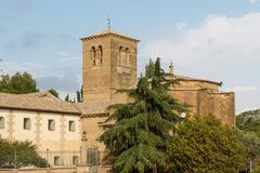 Medieval Romanesque church in Huesca Stock Image