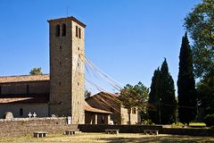 Medieval romanesque church, Italy Stock Photo