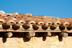 Medieval roof Stock Images