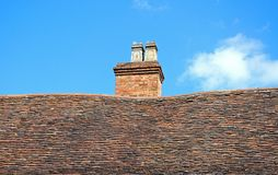 Medieval roof and chimney, Coventry. Stock Photo