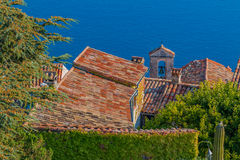 Medieval rooftops in Eze village in France Royalty Free Stock Photography
