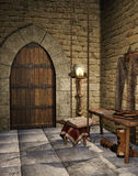 Medieval room with a book Stock Images